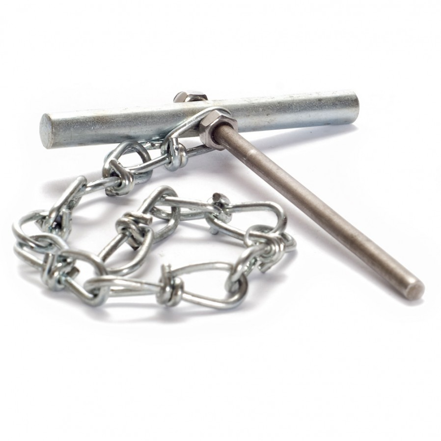 Cotter pin with chain, 8 mm, M5-M6