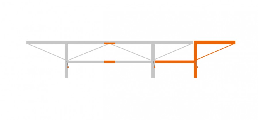 Extension package 1.0 m with 1 additional log lifter, F2