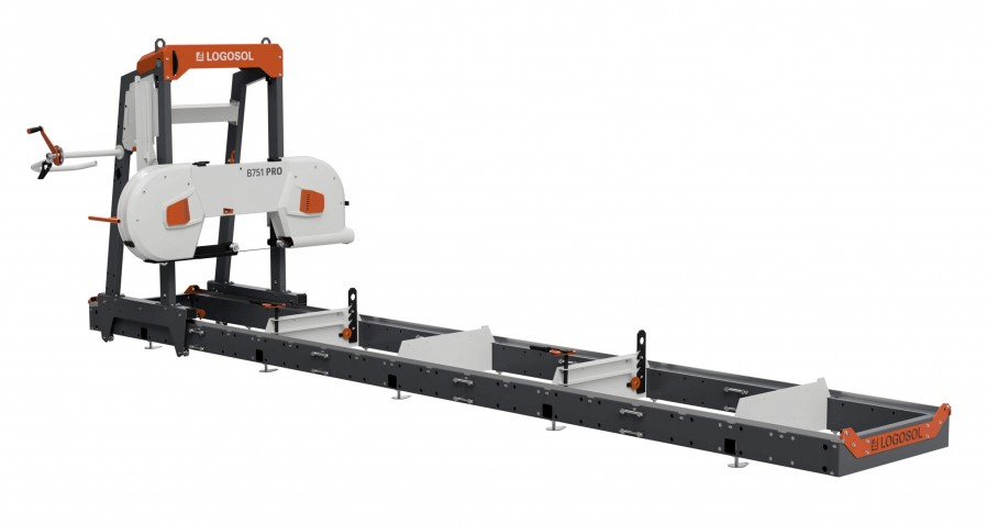 B751 PRO Band Sawmill with 8kW electric motor